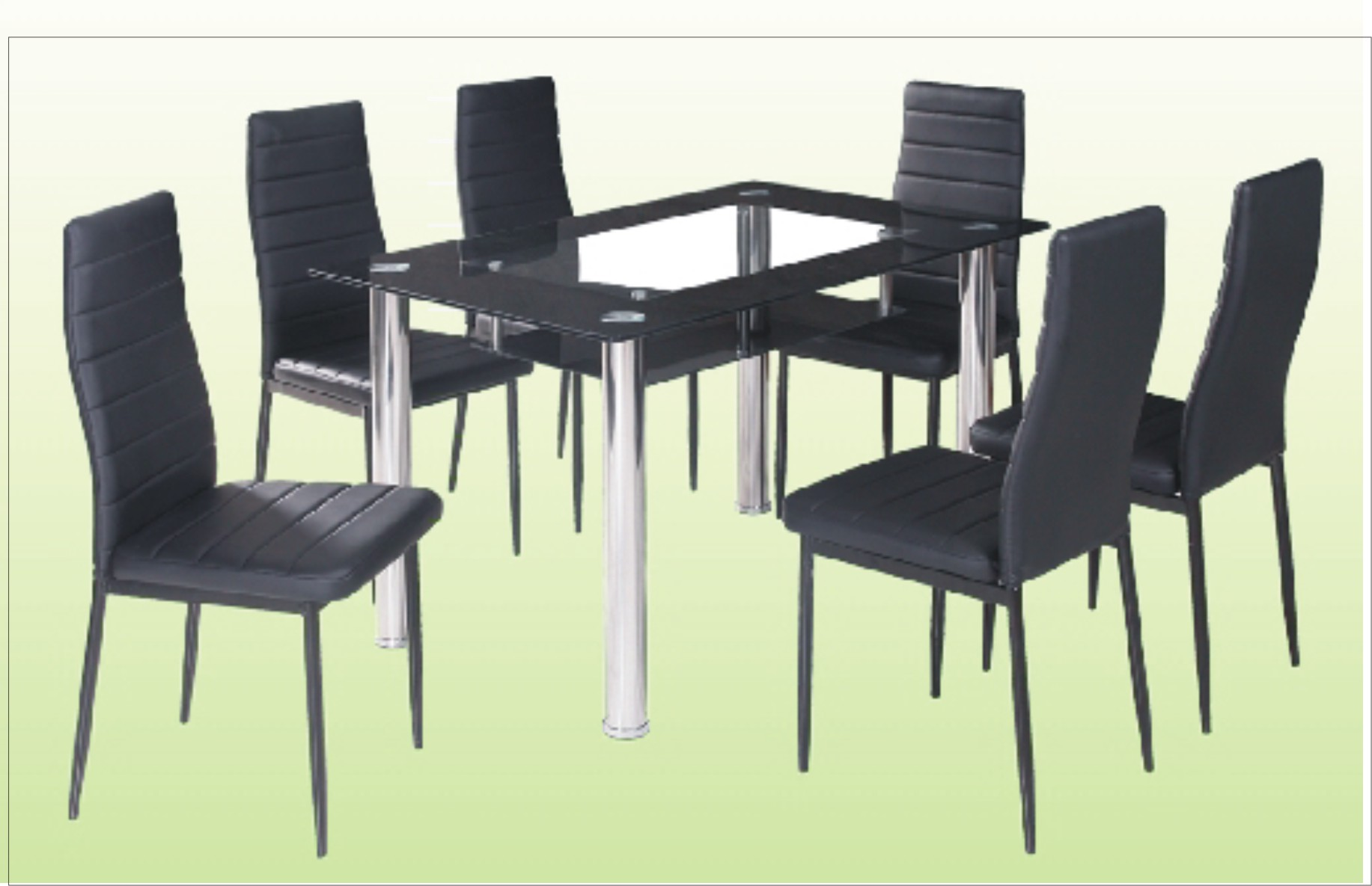 6 Chair Dining Table With Glass Top Cebu Appliance Center