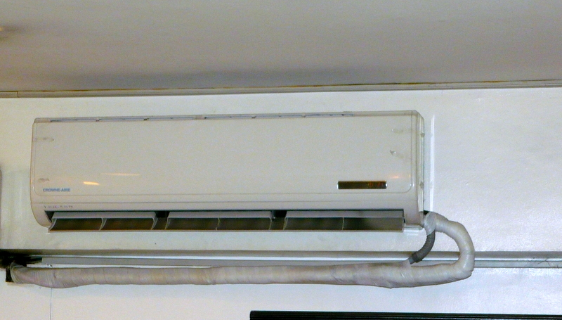 Crowne aire 3 hp split wall type airconditioner cebu for Split type ac