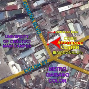Cebu Appliance Center Main Branch (Downtown) Map