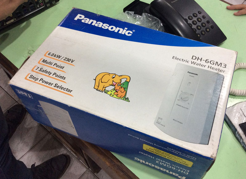 Panasonic Electric Water Heater Dh 6gm3 Multi Point 6 0