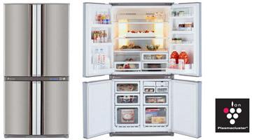 Merveilleux SJF75PE DOUBLE FRENCH 4 DOORS BOTTOM FREEZER REFRIGERATOR   Cebu Appliance  Center
