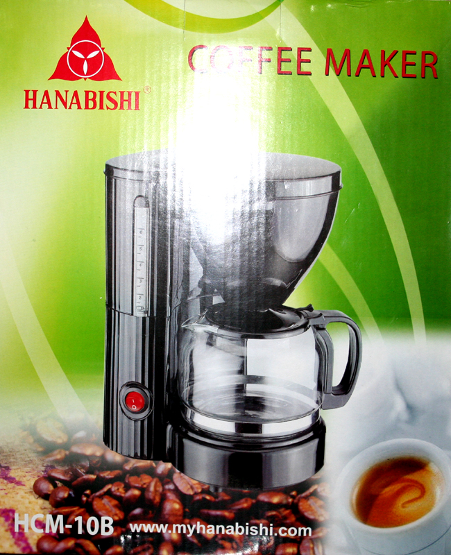 Hanabishi Coffee Maker 1 Cup : Hanabishi HCM-10B coffee maker - Cebu Appliance Center