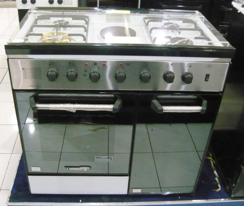 Gas Double Oven Range La Germania 4 gas + 1 electric hotplate, electric oven ...