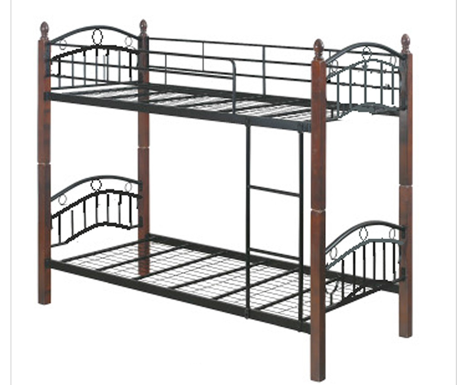 Dew foam double deck bed frame with 4 x 36 x 75 mattress for Double deck bed images