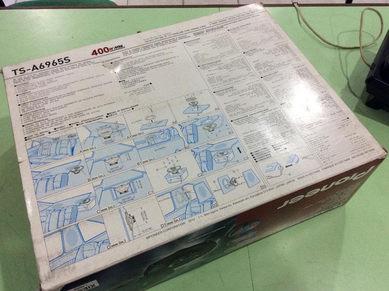 "Pioneer TS-A6965S 3-Way Speaker 6"" x 9"" (Box Back)"