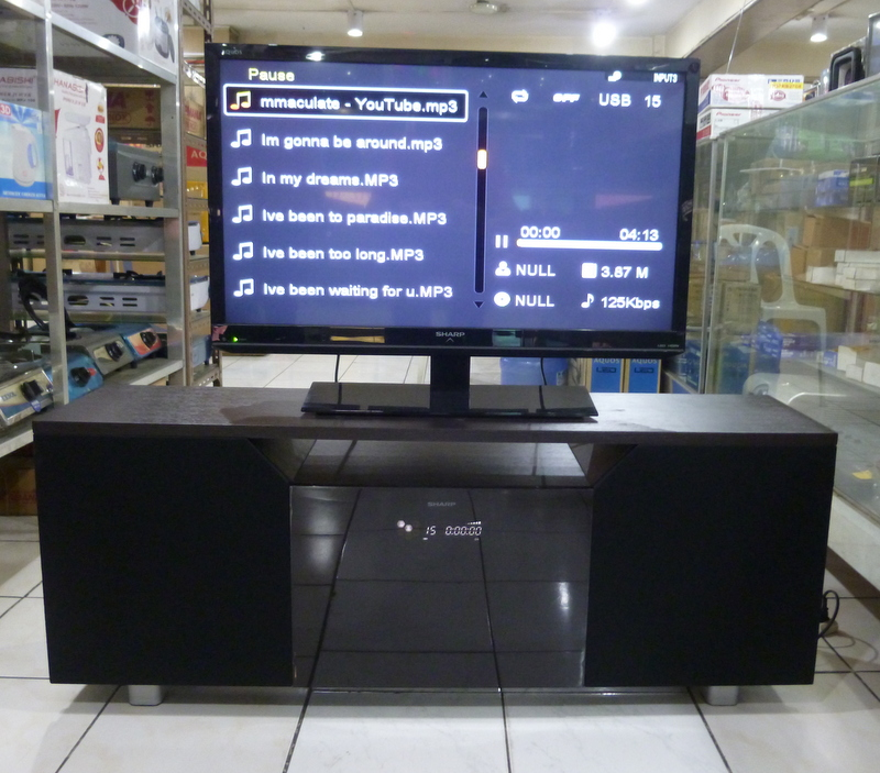 Sharp Audio Video Rack With Built In Amplifier And